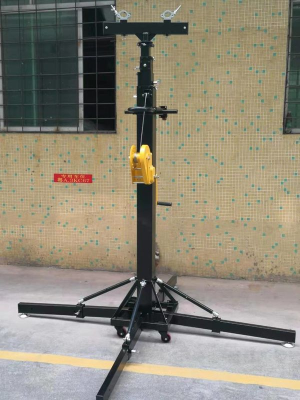 Crank Handle Heavy Duty Light Stand / Speaker Truss Lift Stand Telescopic Lifting Tower