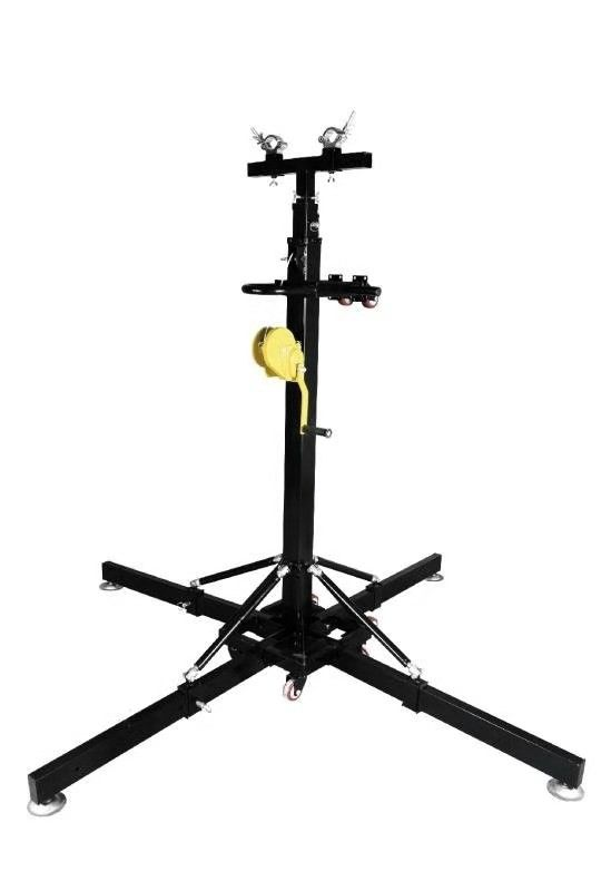 Heavy Duty 7m Lifts Tower Crank Stands With Strong Side Wheels Easy Moving