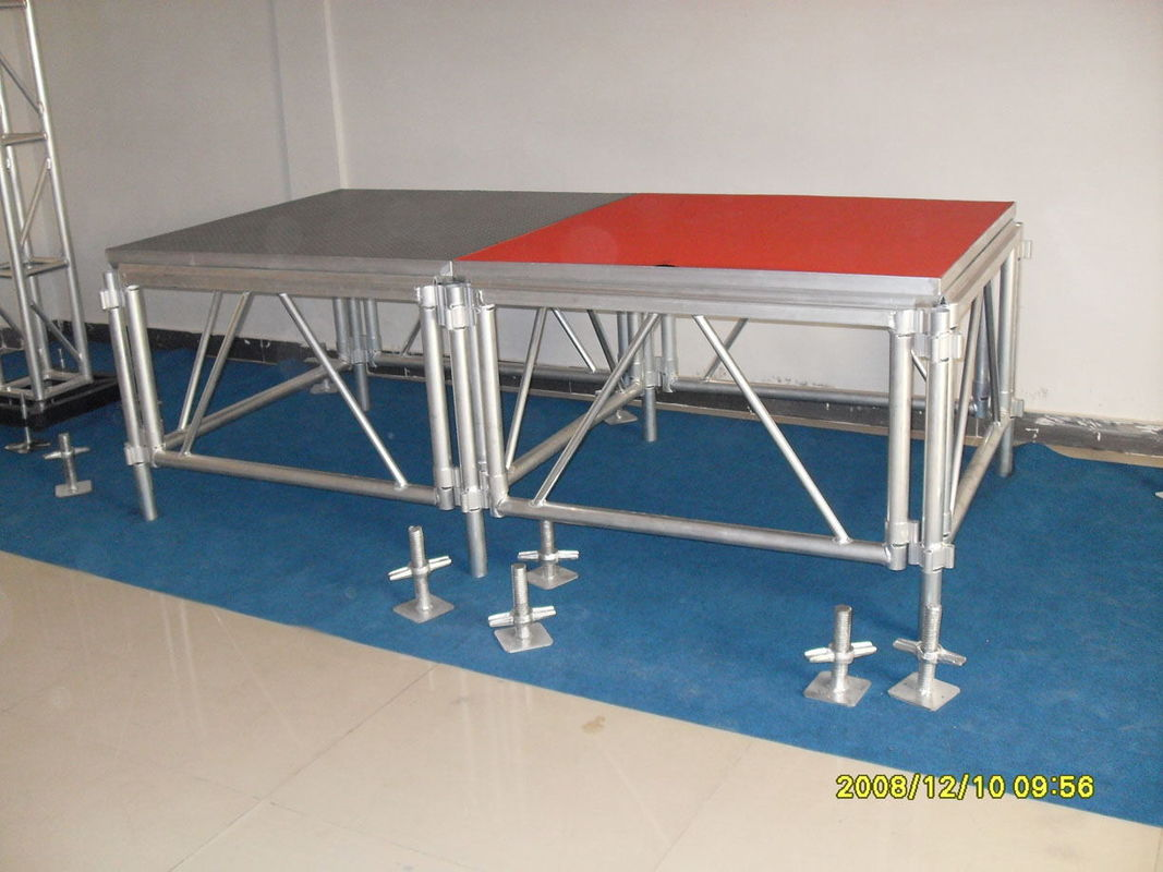 Used Aluminum Stage Deck Assembly Moving Aluminum Stage For Sale